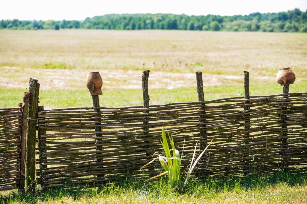 41. Rustic Garden Fence