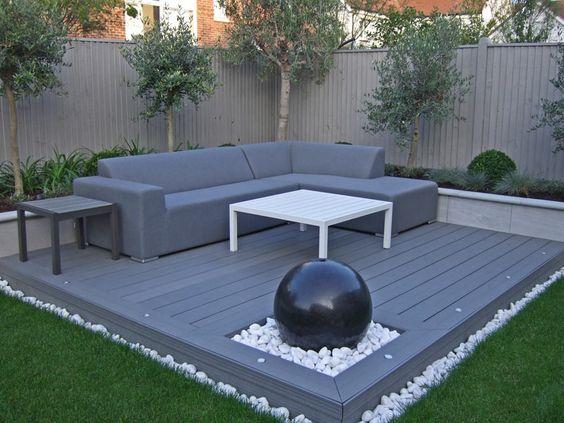 8. Composite Decking garden