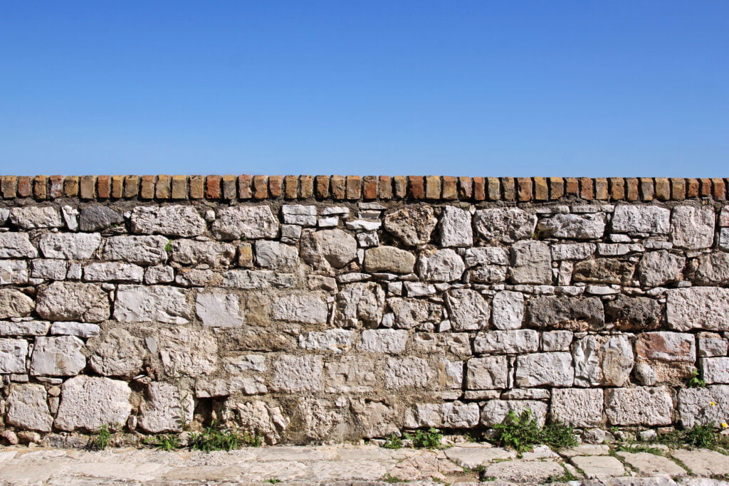 8. Garden Brick Wall