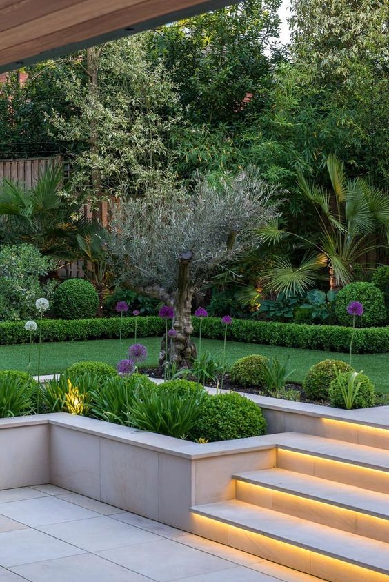 8. Modern Garden Lighting
