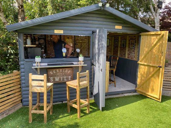 1. Garden Bar Design