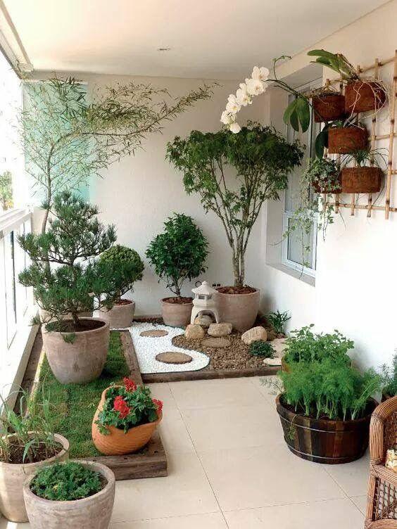 14. Japanese Balcony Garden