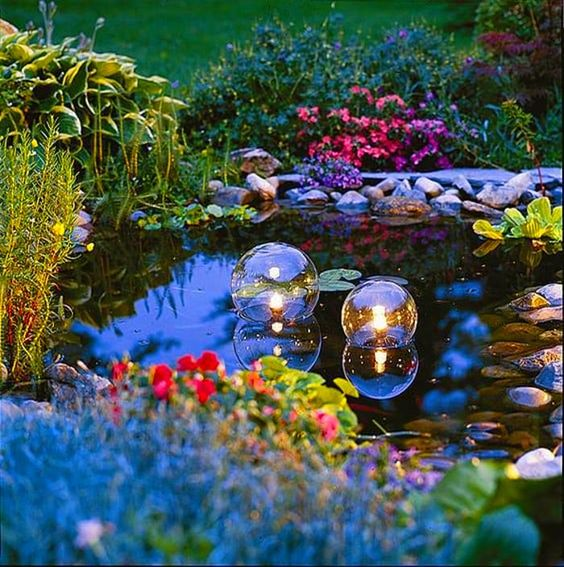 16. Garden Pond Lighting