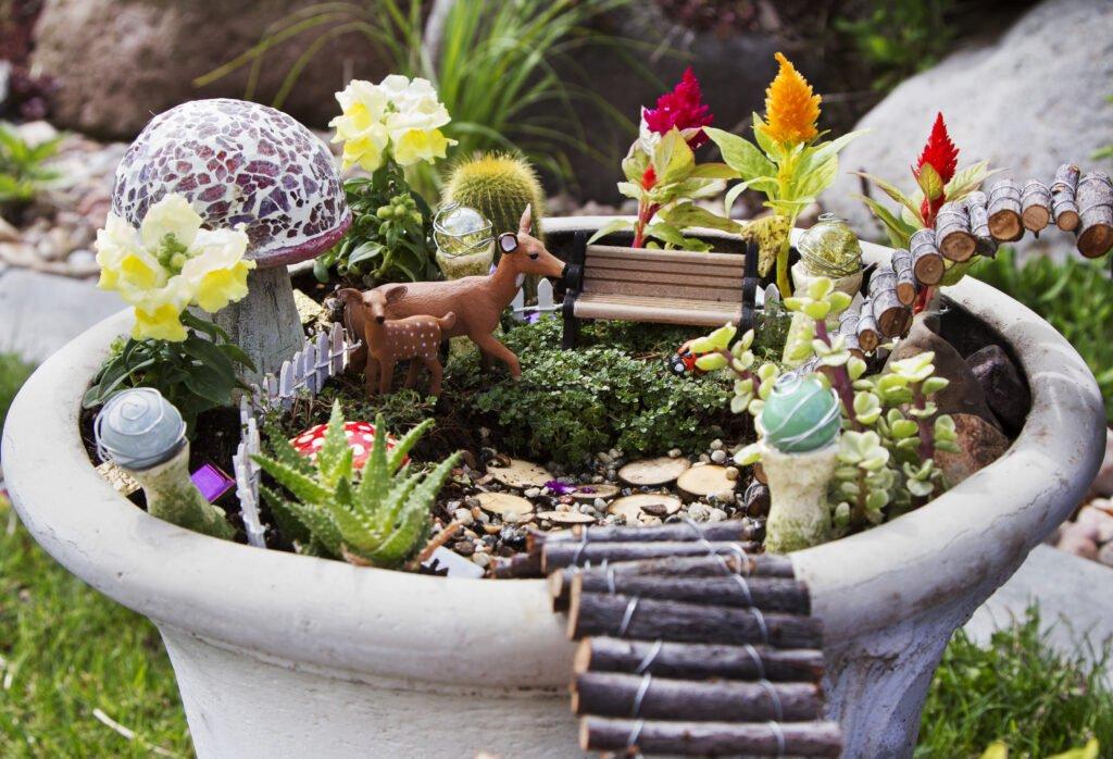 2. Outdoor Fairy Garden