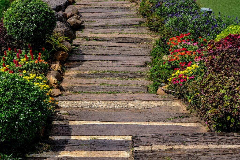 23. Rustic Garden Path