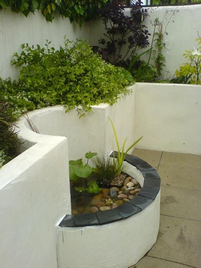 25. Small Raised Garden Pond