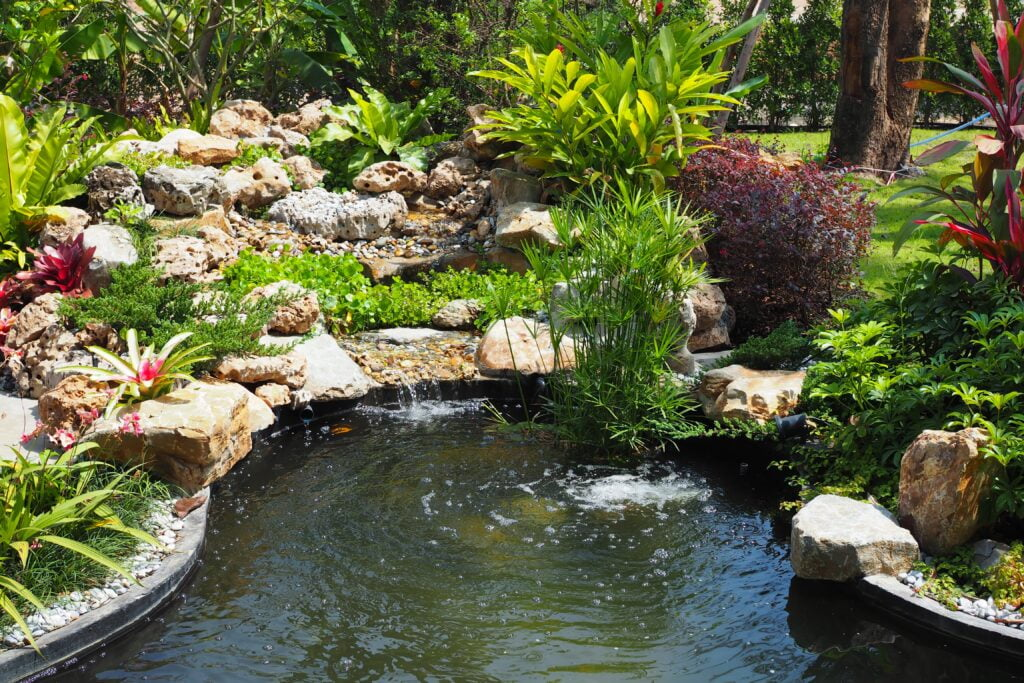 5. Garden Pond Waterfall