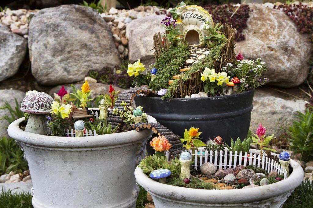 6. Fairy Garden For Outdoors