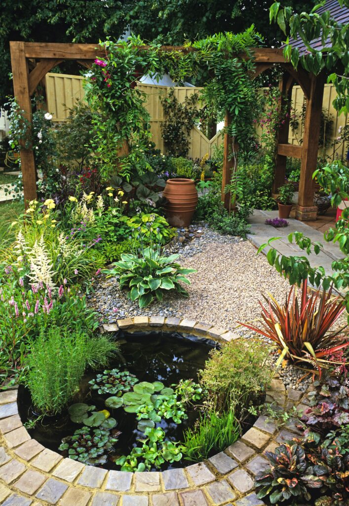 8. Garden Pond for Small Gardens