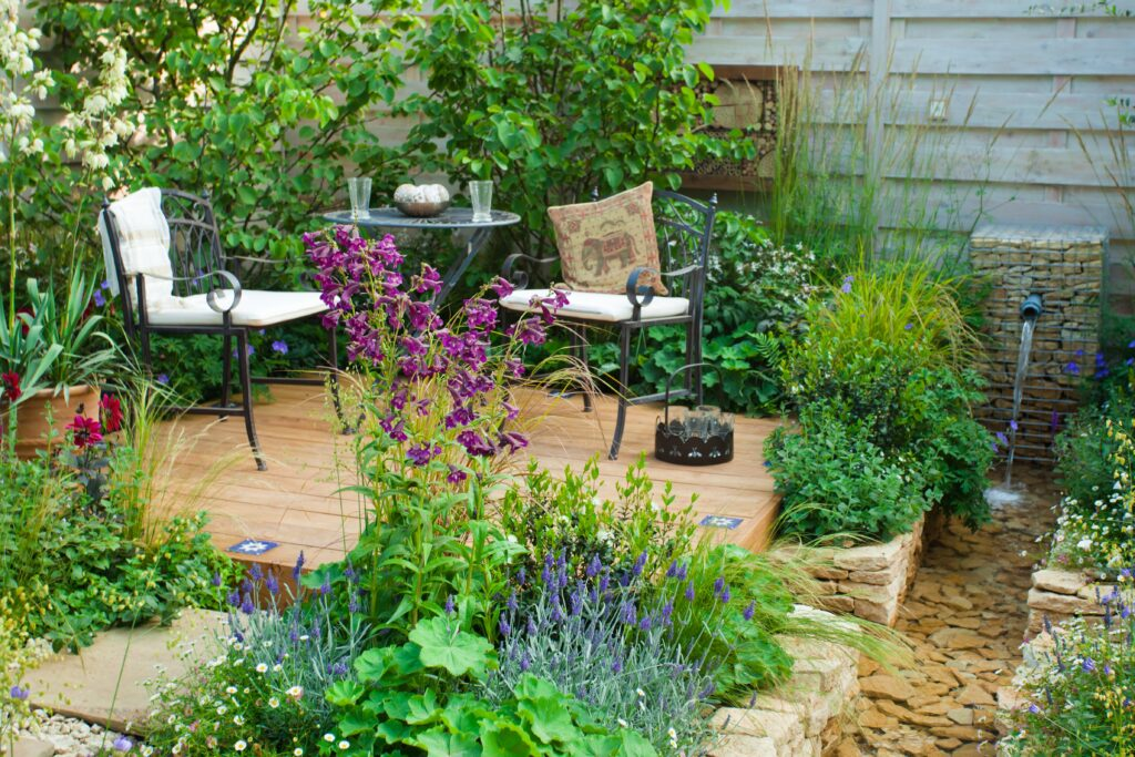 13. Cottage Garden Seating