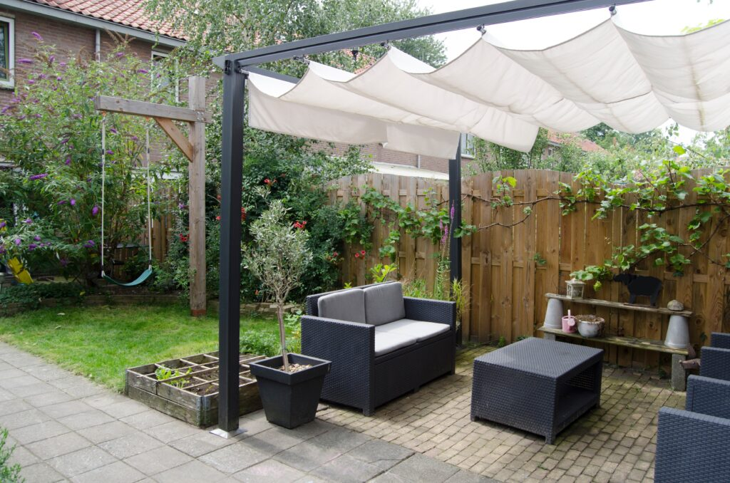 3. Covered Garden Seating