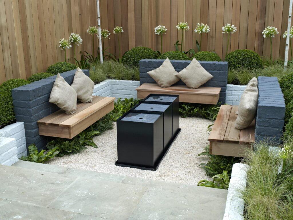 4. Corner Garden Seating