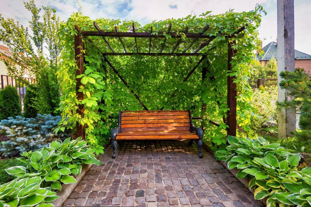 41. Garden Bench Landscaping