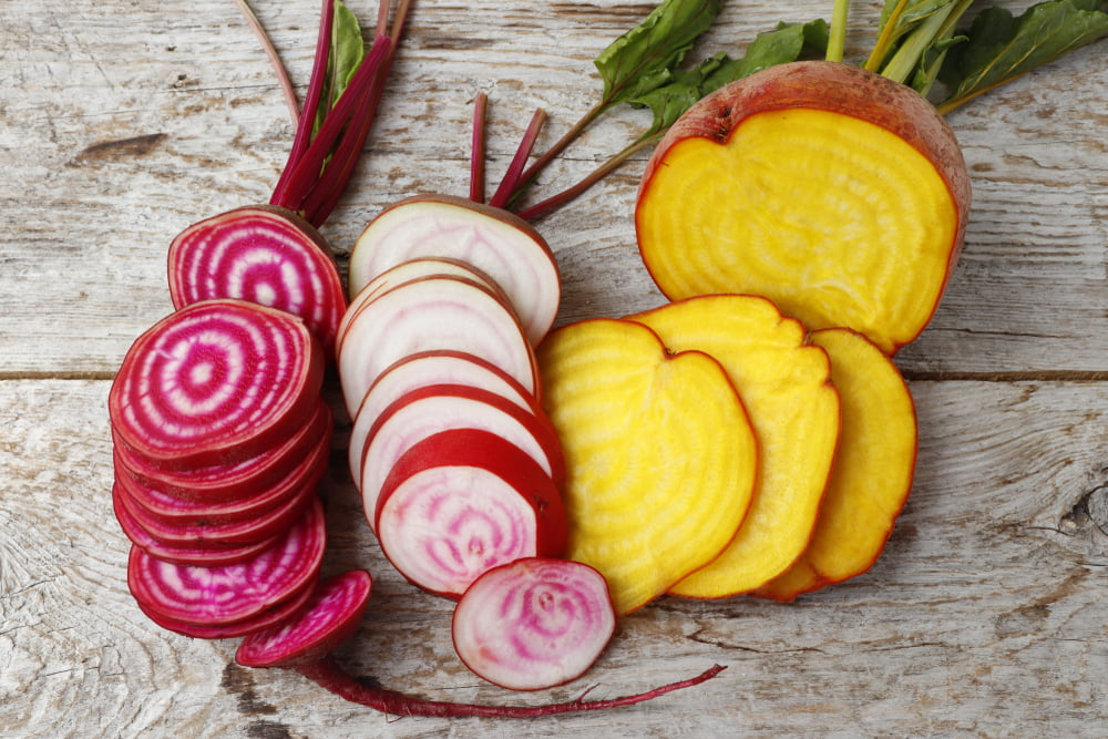 Three beetroot varieties