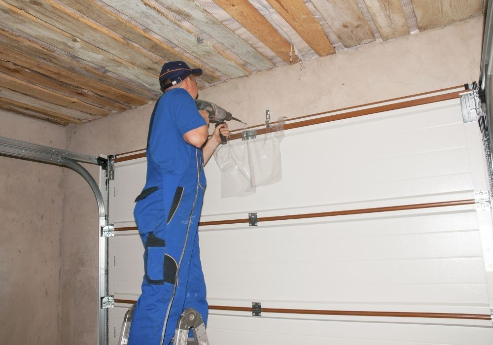 installing-garage-door-for-security