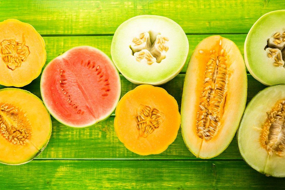 Different melon varieties